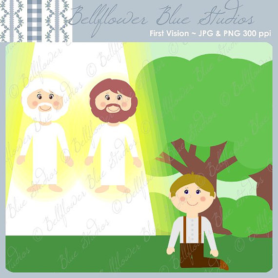 First Vision Digital Clipart LDS Church History.