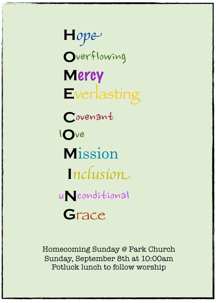themes for church homecoming.