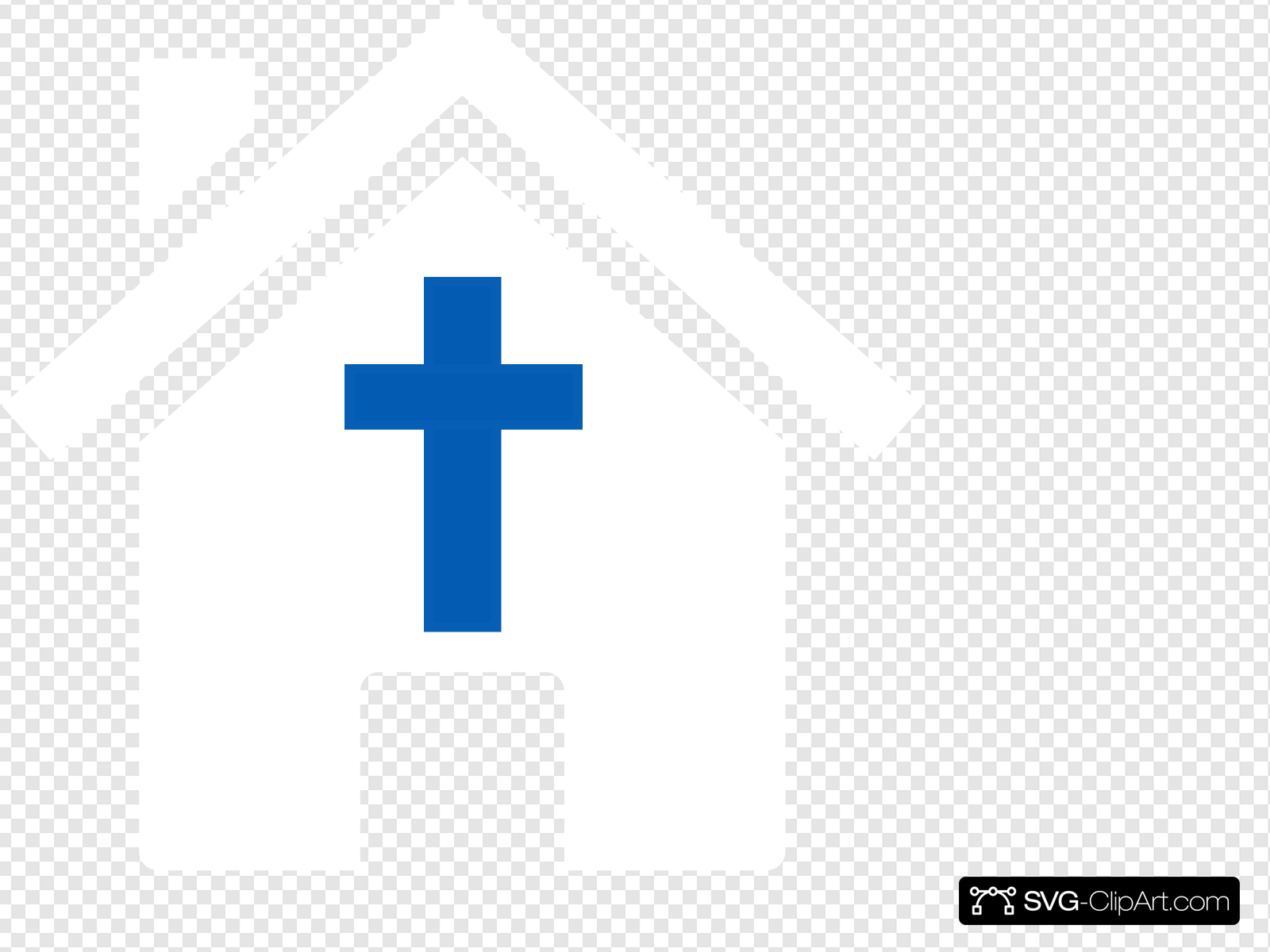White Church House Clip art, Icon and SVG.