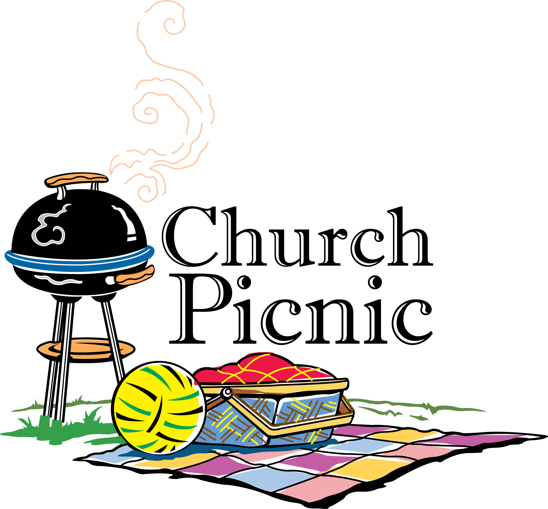 Church Picnic Clip Art.