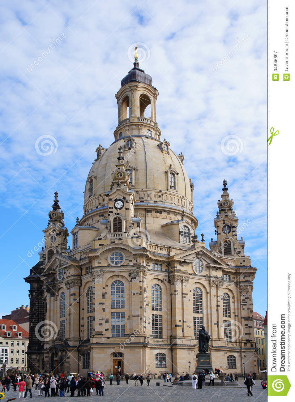 Frauenkirche Church In Dresden, Germany Editorial Photography.