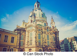 Stock Image of Frauenkirche Dresden.