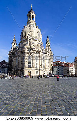"Stock Photograph of ""Neumarkt square with Frauenkirche church."