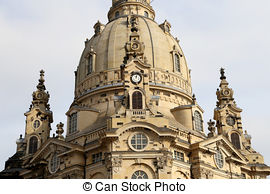 Pictures of Dresden Frauenkirche ( literally Church of Our Lady.