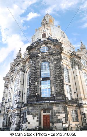 Stock Images of The famous Frauenkirche (Church of Our Lady) in.