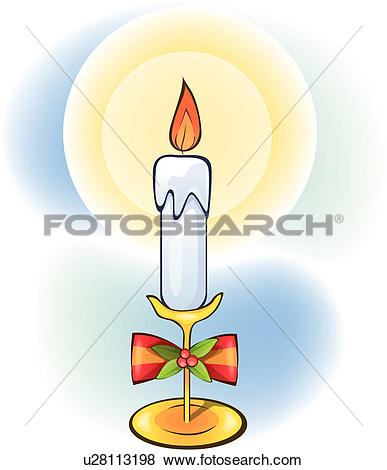 Clip Art of candle light, religion, candle, christianity, church.