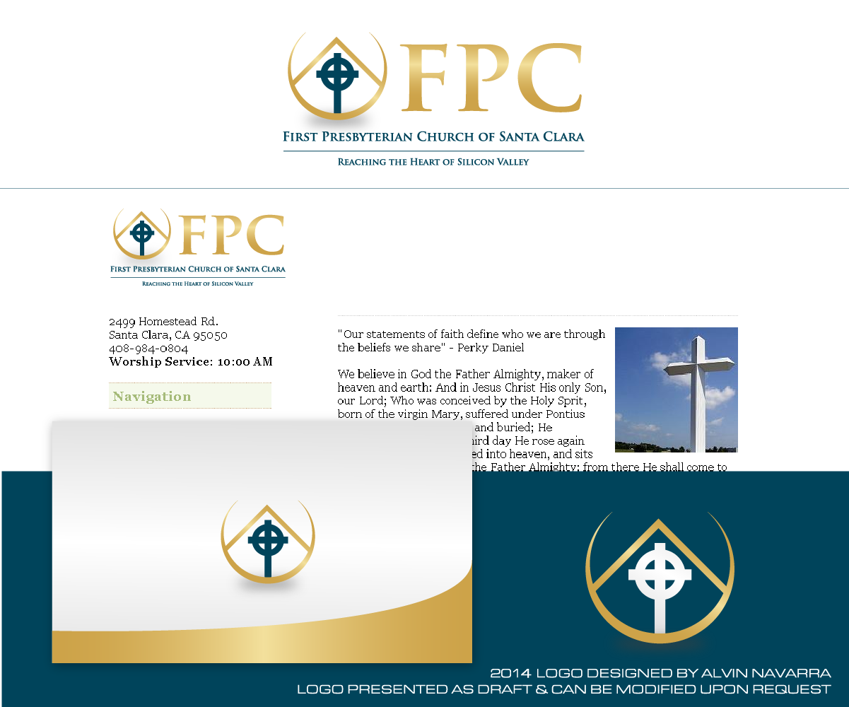 Church Logo Design for FPC Reaching the Heart of Silicon.