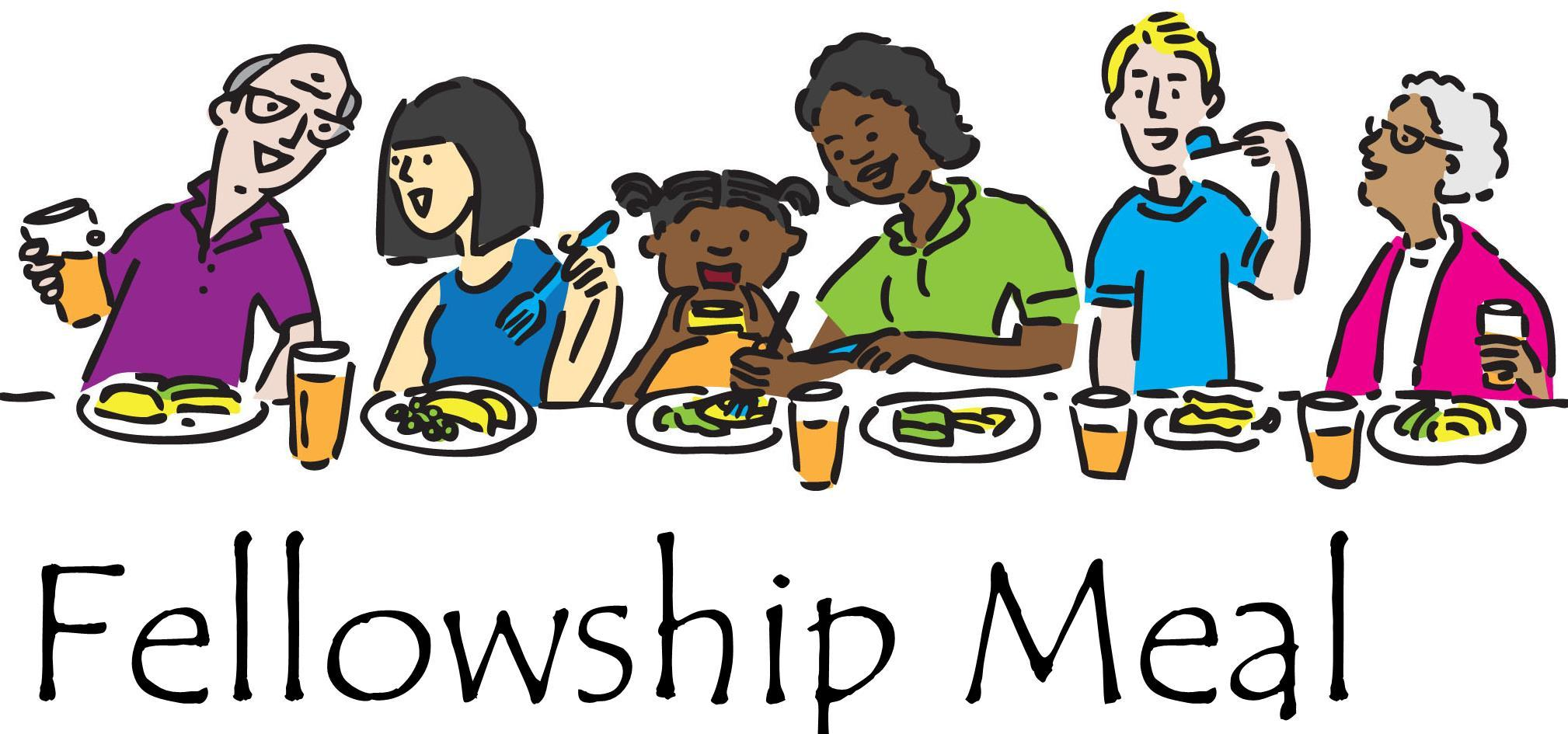 Church Fellowship Meal Clip Art N2 image in Vector cliparts category.