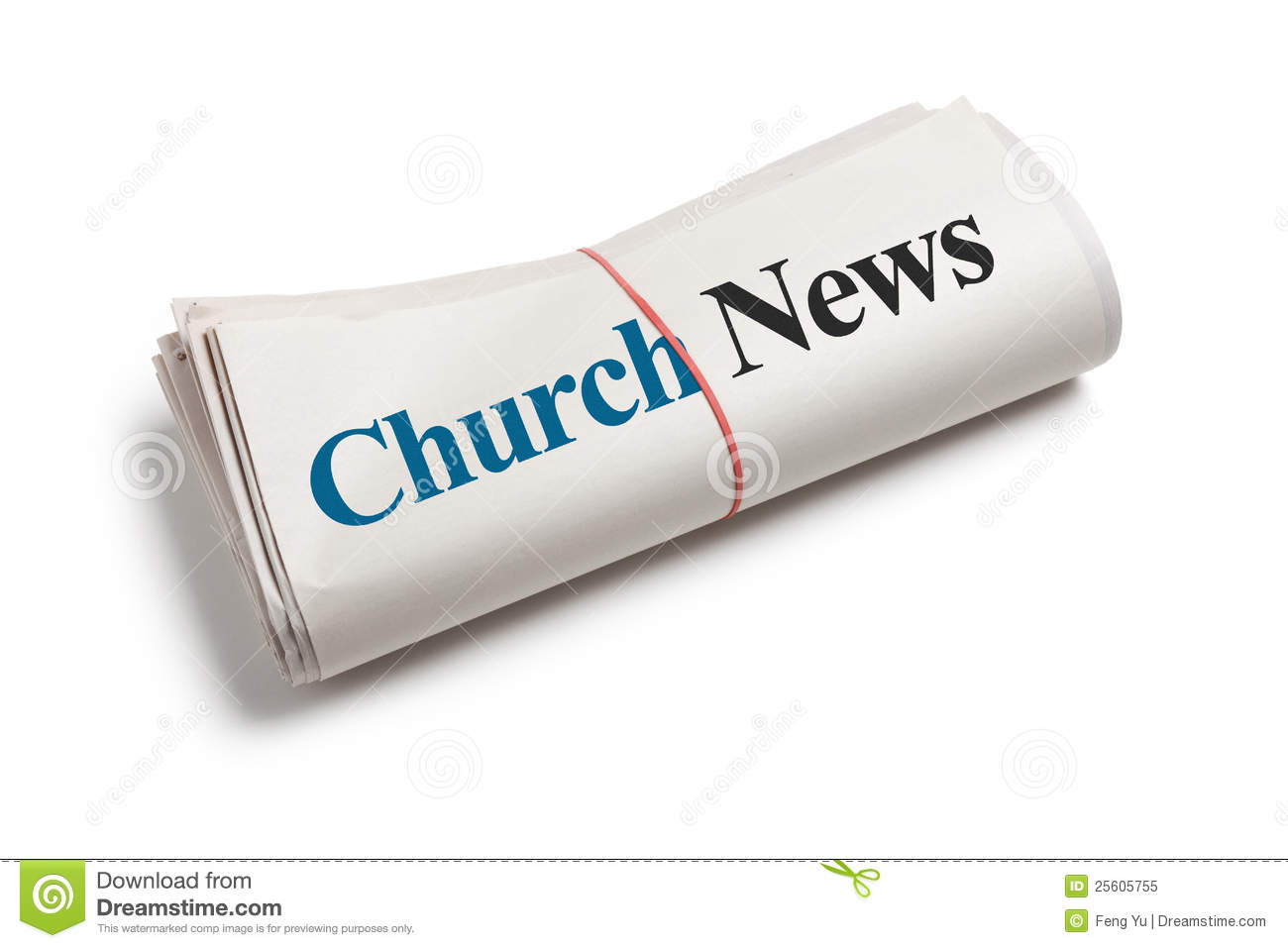 Church News stock image. Image of white, background, church.