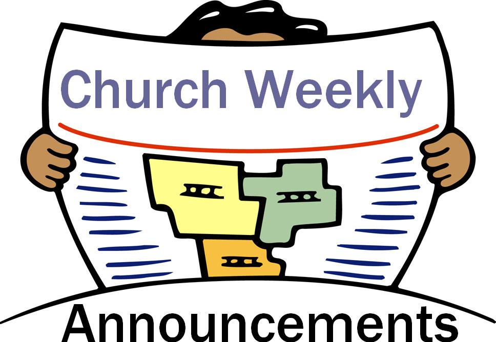 Church Announcements Clipart.