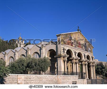 Stock Photograph of Israel, Jerusalem, Gethsemane, Church of all.
