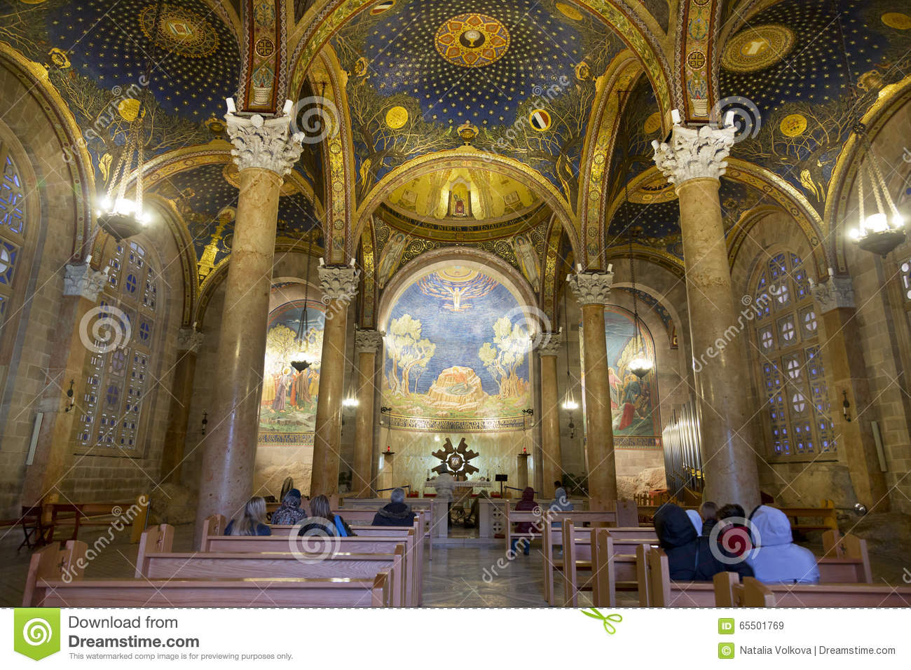 The Interior Of The Church Of All Nations In Jerusalem Editorial.