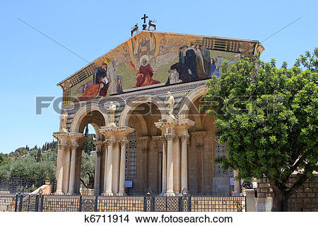 Stock Photo of The Church of All Nations,Jerusalem k6711914.