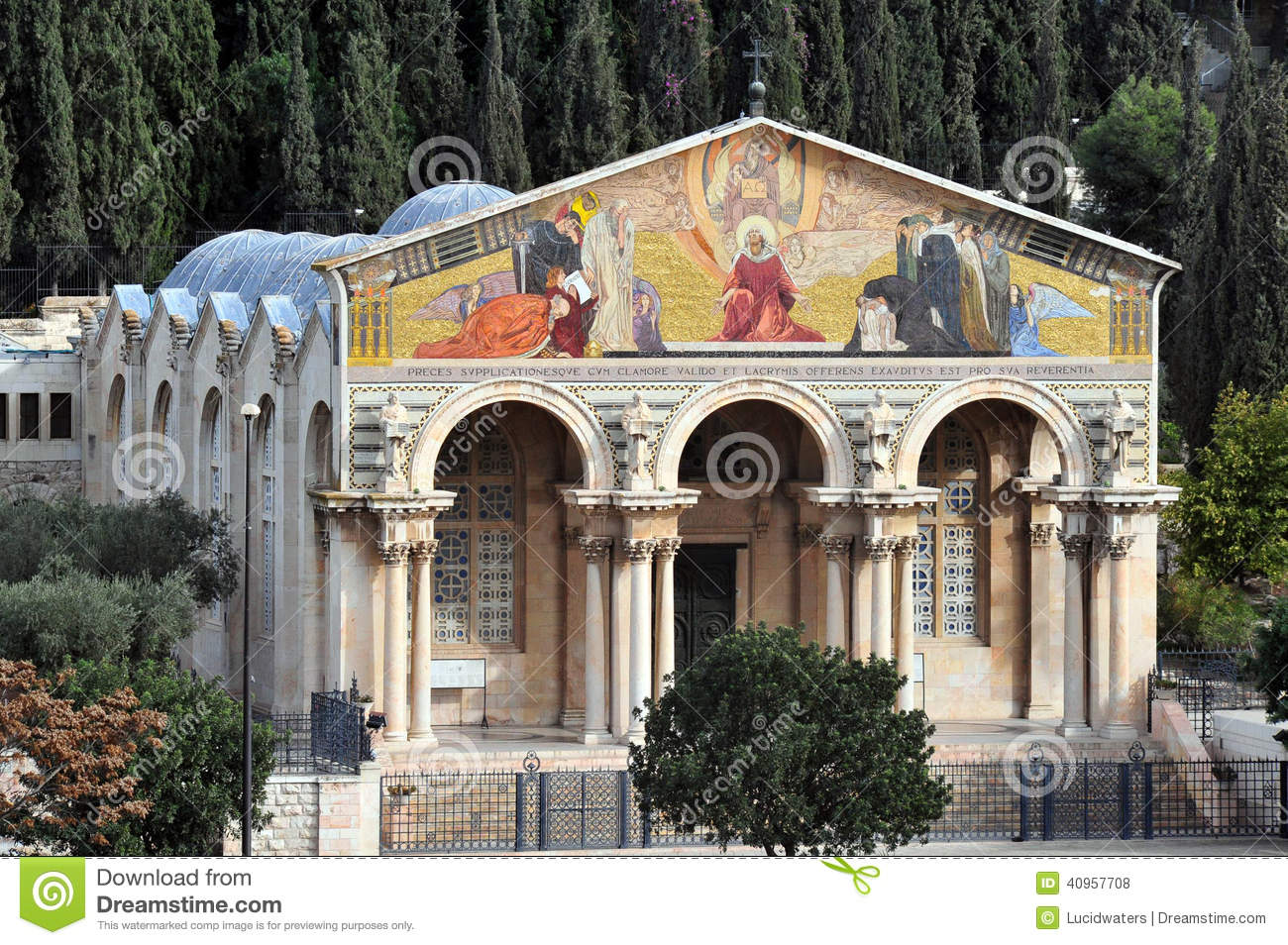 Church Of All Nations On The Mount Of Olives, Jerusalem Stock.