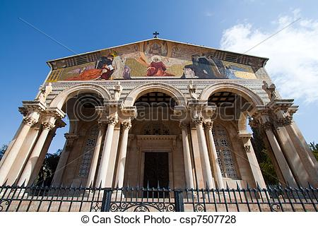 Pictures of Church of All Nations in garden of Gethsemane.