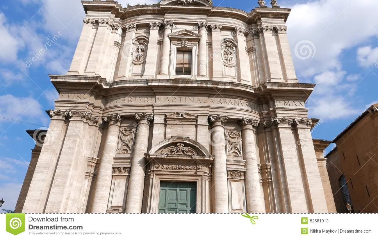 Church Santi Luca E Martina. Rome, Italy Stock Video.
