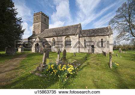 Stock Image of England, Gloucestershire, Coln Rogers. The Parish.