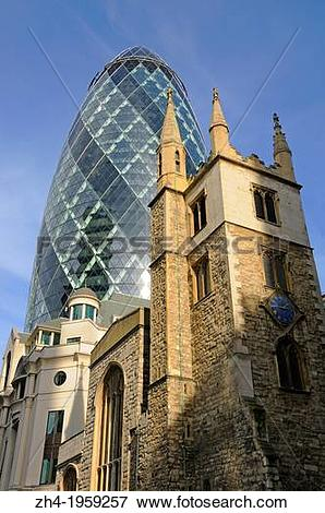 Picture of London, England, UK. Church of St Andrew Undershaft.