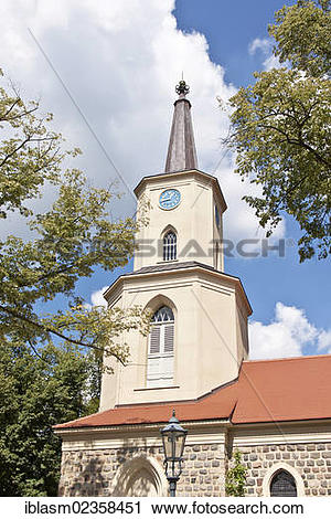"Stock Photography of ""Church of St. Andrew, historic old town of."