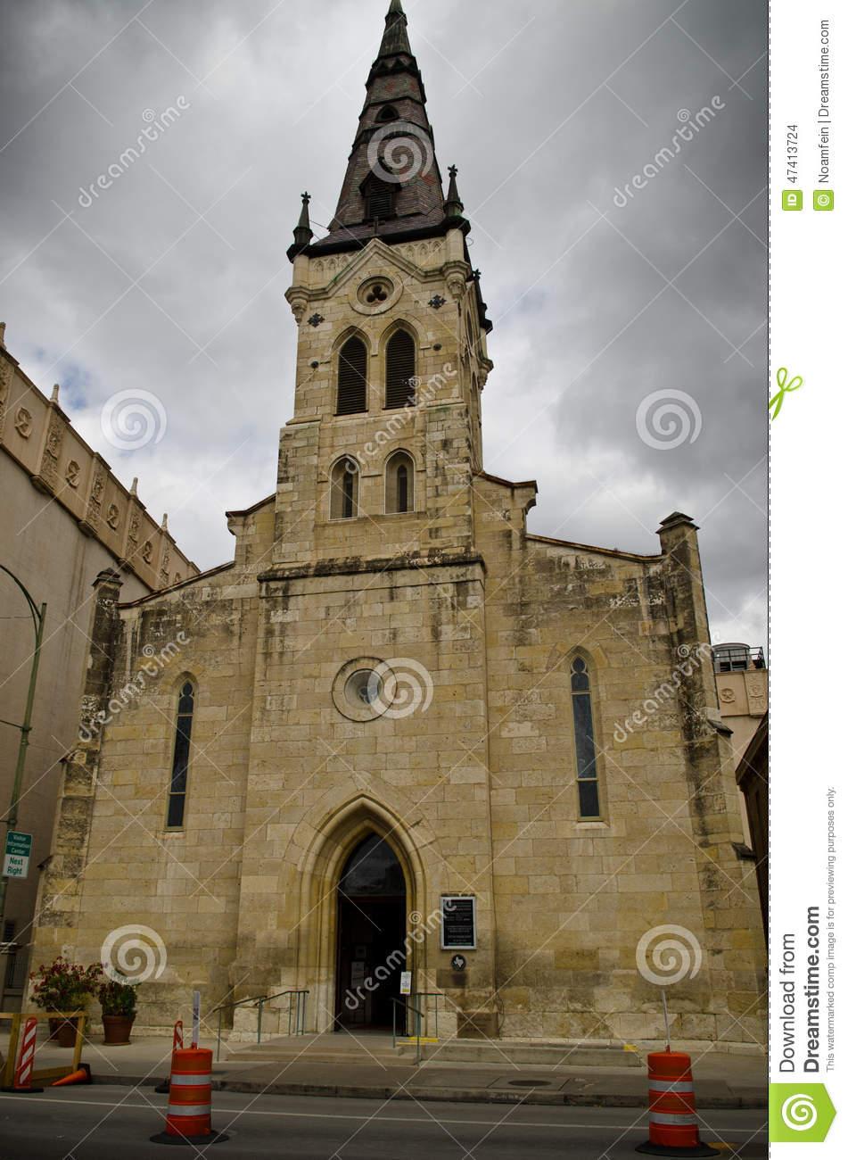 Saint Joseph Catholic Church In Downtown San Antonio Editorial.