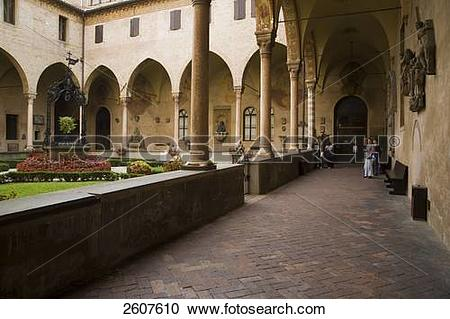 Stock Photography of Courtyard of church, Basilica Di San Antonio.