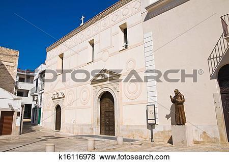 Pictures of Church of St. Antonio. Pisticci. Basilicata. Italy.