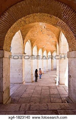 Stock Photography of Arcades of the Church of San Antonio.
