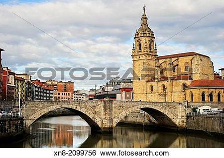 Stock Images of San Anton Bridge and San Antonio Abad Church (43.