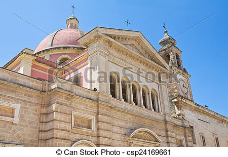 Stock Image of Church of St. Antonio. Fasano. Puglia. Italy.