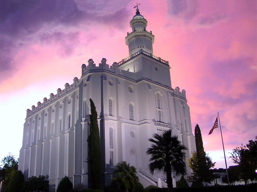 St. George Utah LDS (Mormon) Temple Photographs Page #1.