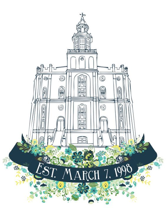 Personalized LDS St. George Utah Temple Print.