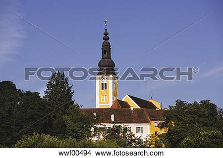 Stock Photo of Austria, Steiermark, Fürstenfeld, Parish church of.