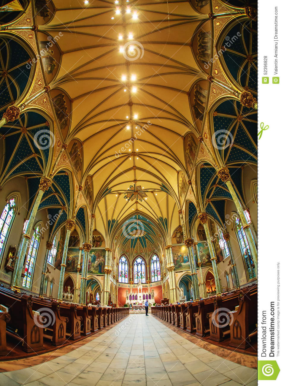 Cathedral Of St. John The Baptist Editorial Stock Photo.