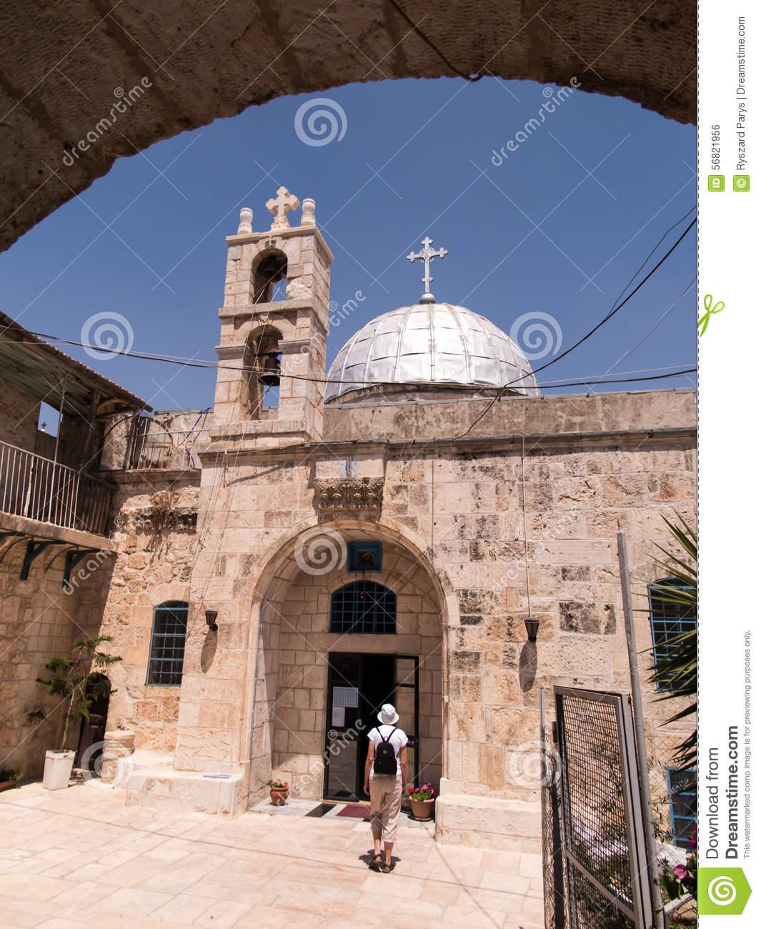 Orthodox Church Of St. John The Baptist In Old Jerusalem, Israel.