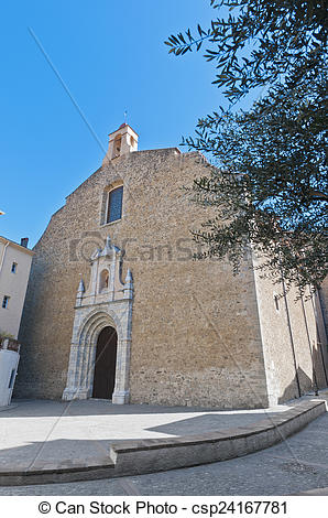 Pictures of Saint Pierre church at Ceret, France.