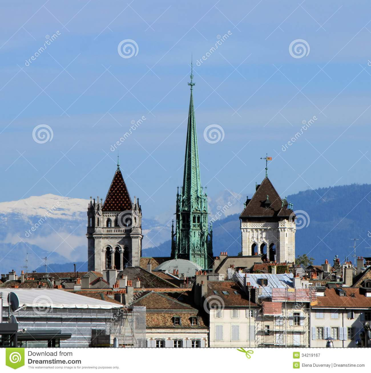 St. Pierre Cathedral In Geneva, Switzerland Royalty Free Stock.