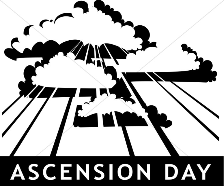 Ascension Day Church Clipart.