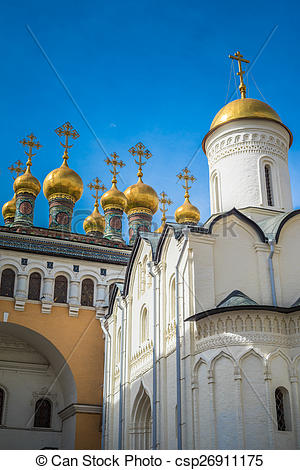 Picture of Church of the Deposition of the Robe, Moscow Kremlin.