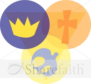 Trinity with Crown, Cross, and Dove.