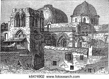 Clipart of Church of the Holy Sepulchre or Church of the.