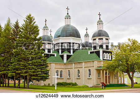 Stock Photograph of Historic Ukrainian Catholic Church of the.