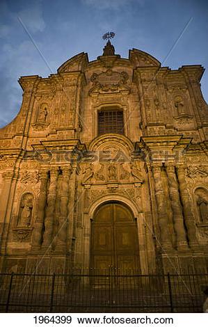 Stock Photograph of company of jesus church; quito, equador.