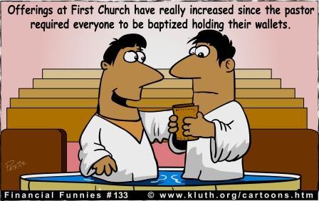 Church Offering Cartoon Clipart.