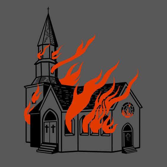 How To Draw A Church On Fire.