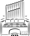 Church Organ Clipart.