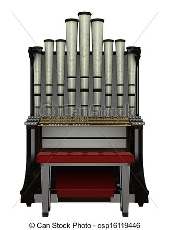 Drawing of organ.