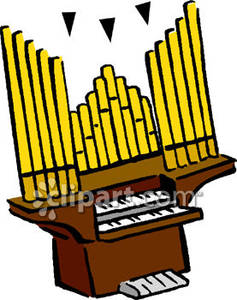 Church Pipe Organ Clipart.