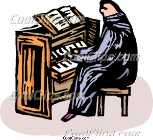 Person playing the church organ Clip Art.