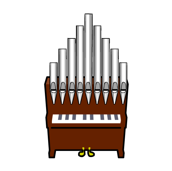 Church organ console clipart.