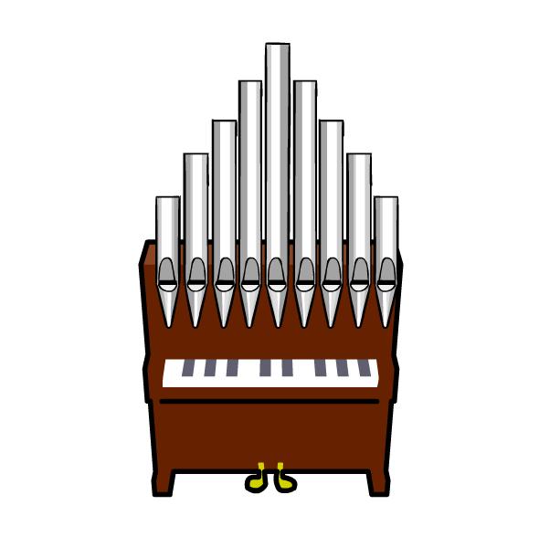 Church organ console clipart.